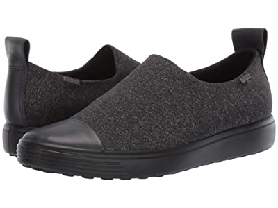 ECCO Soft 7 GTX Slip-On (Moonless/Black/White) Women