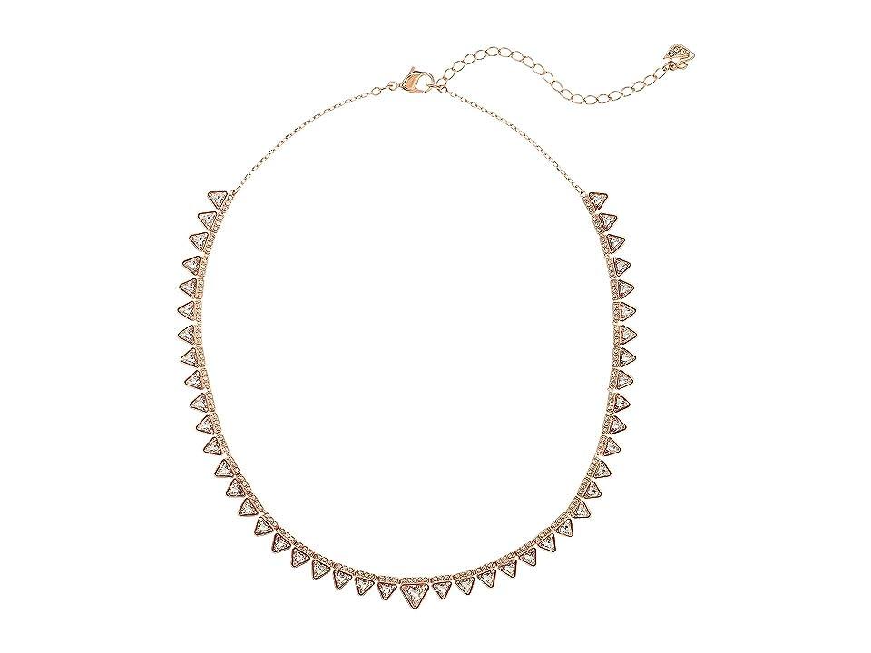 Swarovski Lima Necklace (White/Rose Gold Plating) Necklace