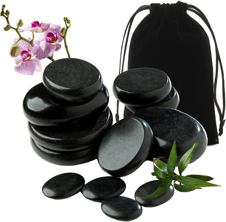 OFFicial mail order OUDI LINE Basalt Popular products Massage Rocks 12pcs for Pre Stone Massages Hot