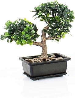 artplants.de Bonsái Artificial en Maceta Decorativa, 20cm - Bonsái Decorativo - Bonsai de plástico