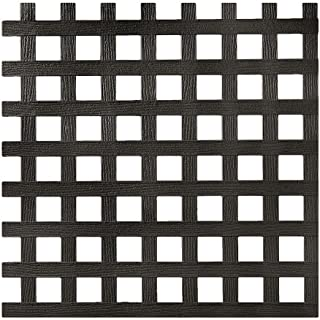 0.2 in. x 48 in. x 8 ft. Black Privacy Square Plastic Lattice (Pack of 2)