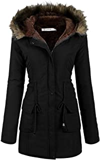 Beyove Womens Hooded Warm Winter Coats with Faux Fur Lined Outerwear Jacket