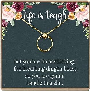 Sympathy Gift Necklace: Illness, Cancer, Chemo, Sickness, Thinking of You, Encouragement, Empathy, Uplifting, 2 Linked Circles