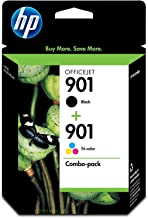 HP 901 | 2 Ink Cartridges | Black, Tri-color | Works with HP OfficeJet 4500, J4500 series, J4680 | CC653AN, CC656AN