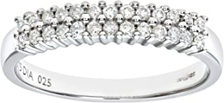 Naava 女士 9 克拉白金 0.25 克拉钻石爪镶永恒戒指