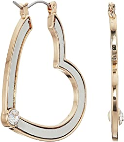 GUESS - Heart Hoop Earrings with Tone Detail