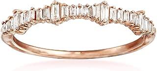 Ross-Simons 0.20 ct. t.w. Baguette Diamond Ring in 14kt Rose Gold