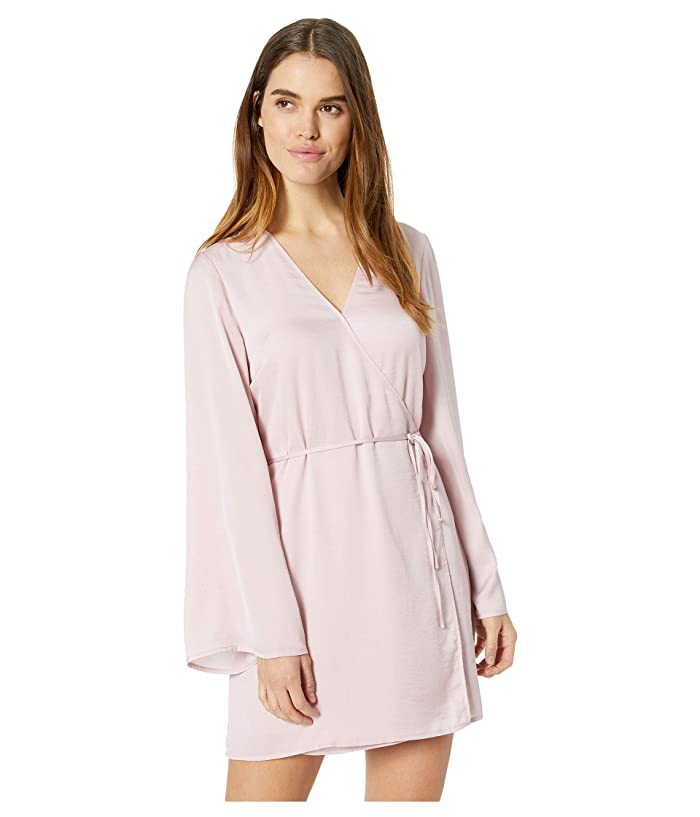 Cupcakes and Cashmere Kaidence Satin Wrap Dress (Bloom Pink) Women