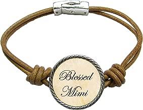 SAS Blessed Mimi Brown Leather Cord Bracelet Jewelry