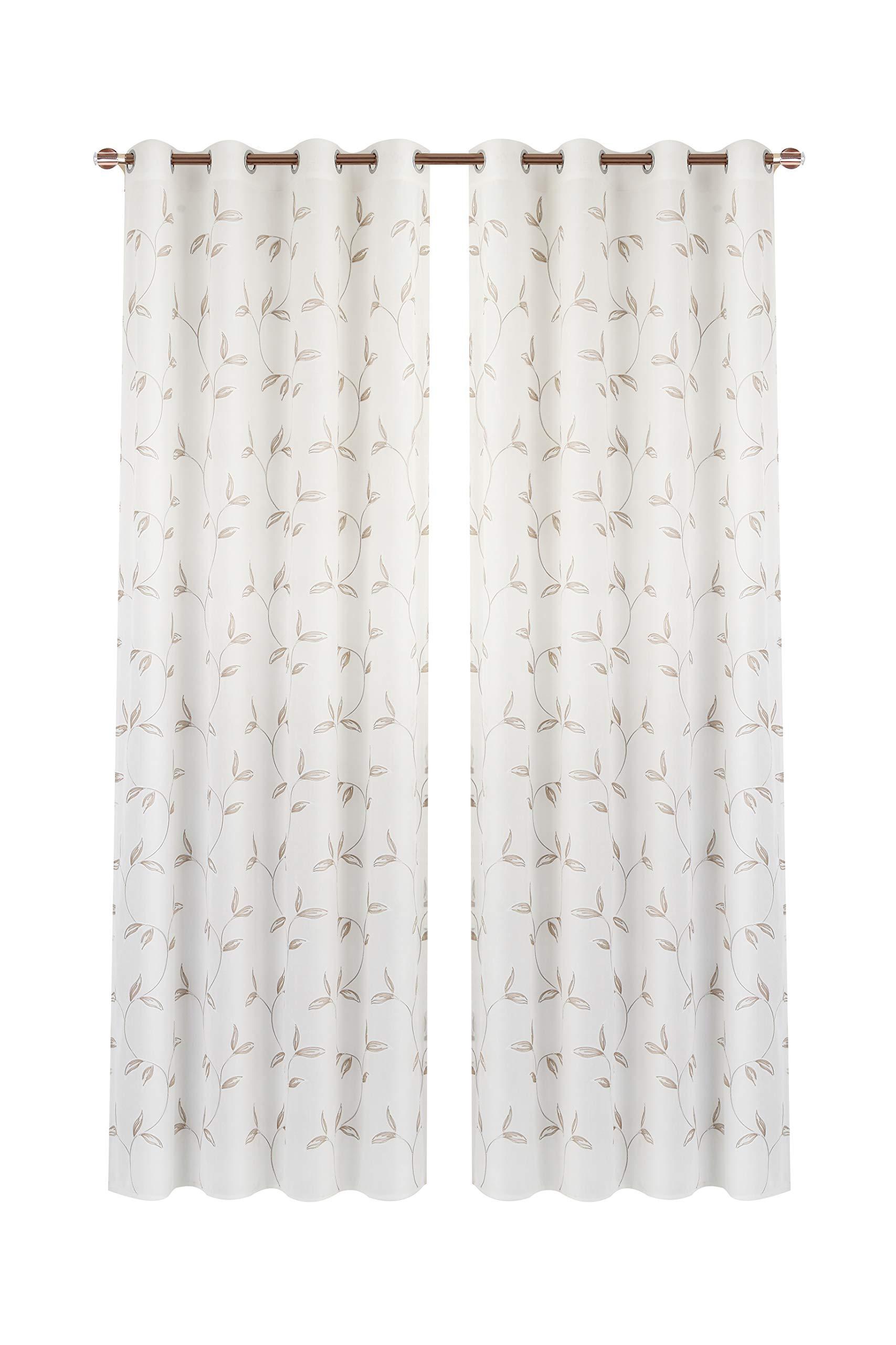 Rose Rameng 1PC Rideaux Voilages Rideaux Occultants enetre Rideau pour Chambre Salle de Bain 130cm x 100cm
