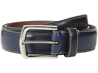 Torino Leather Co. 35mm Burnished Tumbled Veal w/ Polished Nickel (Navy) Men