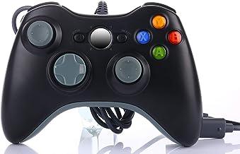 Manette filaire multi-usage pour Xbox 360, Slim ou PC Games sur Windows XP Vista 7 8 10, compatible et ergonomique Joypad/...