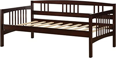 Dorel Living Kayden Daybed Solid Wood Twin Espresso Furniture Decor