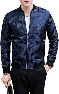 メンズ 花柄 ジップ ジャケット 長袖 ゆったり ハンサム 着痩せ おしゃれ 防風 カジュアル アウター 通勤 大きいサイズ
