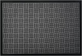 McoMco Gray Front Door Mats, 120cm*60cm, All Weather Entry and Back Yard Door Mat, Indoor and Outdoor Safe, Slip Resistant...
