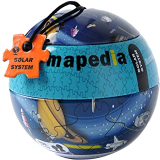 The Purple Cow - Mapedia Solar System Map Puzzle - Maps Game Set for Kids - for Both at Home & On The Go! A Puzzle of 100P...