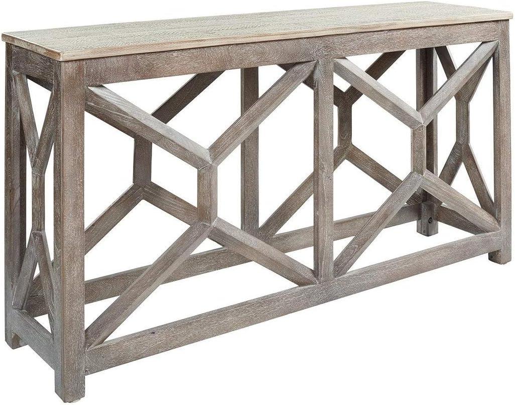 Ranking TOP19 store Antique Gray Modern Farmhouse Console Sofa Grey Table Rectangle