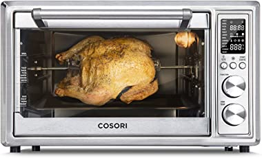 COSORI C130-TS Nonstick for CO/CS 130 Series, BPA Free Air Fryer Toaster Oven Accessory Food Crumb Tray Set, 30L, Black