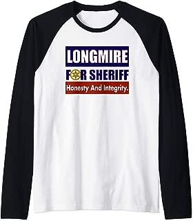 Longmire for Sheriff Raglan Baseball Tee