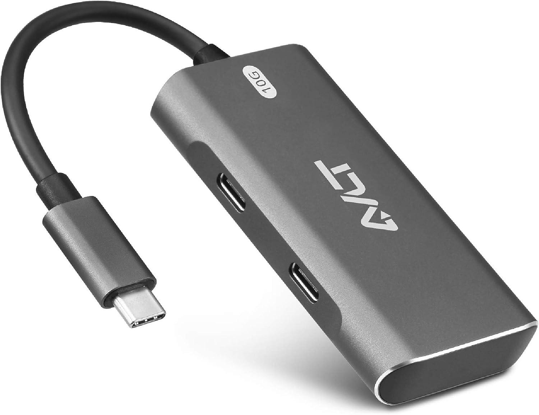 AVLT 4-Port USB 3.1 Gen 2 10G Hub - USB-A x2 USB-Cx2 - Portable USB-C Hub for MacBook Pro, iMac, iPad Pro, MacBook Air, Surface Pro, Pixel Slate, Galaxy Tab (Does Not Support USB-C Video Display)