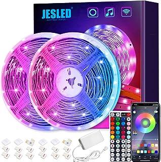 Taśmy LED Wifi, taśma LED JESLED 10M RGB kompatybilna z Alexa, Google Home, aplikacja, taśma LED Synchronizacja muzyki świ...