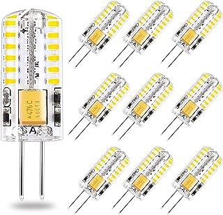 G4 LED Bulb 12V AC/DC Bi-Pin Base Landscape Light Bulbs 3 Watt LED Lighting Bulbs Equiavlent to 30W Low Voltage Warm White 2700K 10-Pack