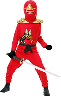 Charades Ninja Avenger Series II with Armor Child's Costume, Small Red
