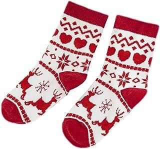 Ceally, Calcetines adultos para niños, calcetines con estampado navideño, calcetines navideños de moda y lindos