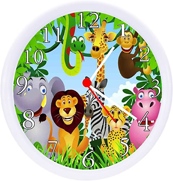 Rusch Inc Jungle Safari Animals Wall Clock