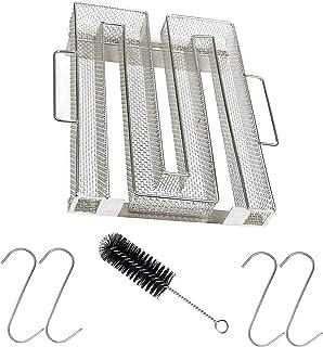 Kall rökgenerator, kallrök kallröksgenerator rostfritt stål kallrökterare för rökugn kall rök generator med borste krok, m...