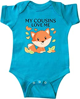 inktastic My Cousins Love Me- Little Fox Infant Creeper