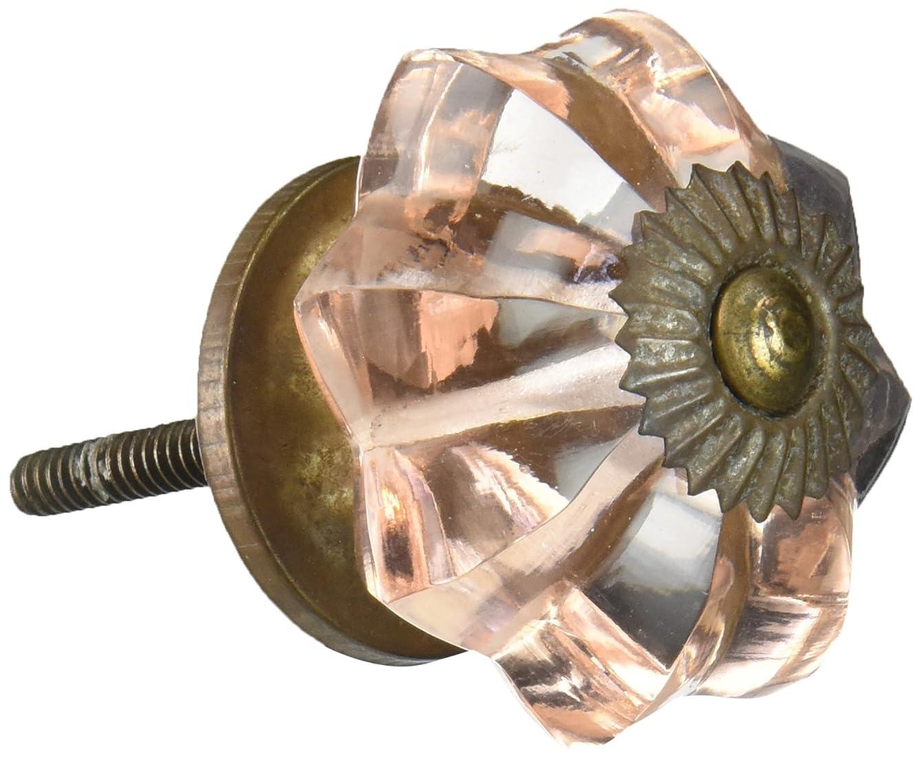 Darice Decorative Knob - Glass - Fancy - Pink Flower