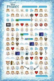Empireposter 738349Disney Frozen Told by Emojis–Disney Frozen Elsa Anna Olaf Poster Print 91.5x 61x 0.14cm Paper, Mu...