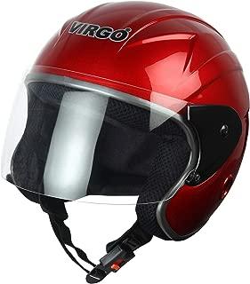 Virgo TreFinger Open face helmet Red Glossy Clear