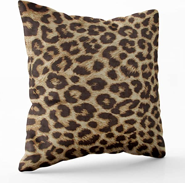 Shorping Zippered Pillow Covers Pillowcases 18X18 Inch Leopard Print Pillow Decorative Throw Pillow Cover Pillow Cases Cushion Cover For Home Sofa Bedding