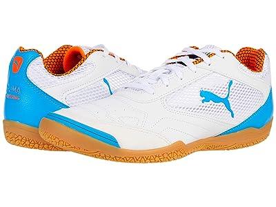 PUMA Pressing (Puma White/Dresden Blue/Shocking Orange/Gum) Shoes