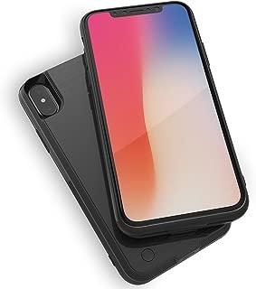 WELUV iPhone X XS 対応 バッテリーケース Qi 充電 ケース バッテリー内蔵ケース 4000mAh 薄型 大容量 無線 ケース型バッテリー ワイヤレス チャージ保護ケース 旅行 ブラック