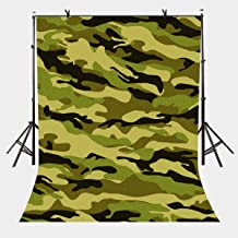 LYLYCTY 5x7ft Military Green Backdrop Army Green Camouflage Pattern Photography Background and Studio Photography Backdrop Props LYP018
