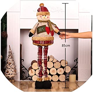 physpace Standing Large Retractable Santa Claus/Snowman/Reindeer Figurine Christmas Tree Ornaments, U14