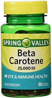 Spring Valley Beta Carotene 25000IU 100ct Softgels