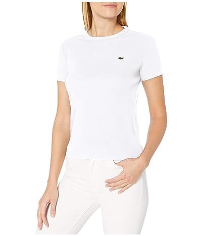 Lacoste Short Sleeve 1X1 Rib CN T-Shirt