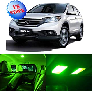 SCITOO LED Interior Lights 8pcs Green Package Kit Accessories Replacement for 2007-2011 Honda CRV