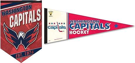 WinCraft Bundle 2 Items: NHL Washington Capitals 1 Premium Felt Banner 17