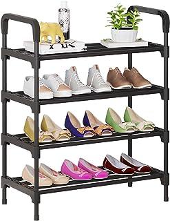 UDEAR Organizador de Zapatos de 4 Niveles, estantes de Metal de pie para 12-15 Pares de Zapatos para Sala de Estar, Entrad...