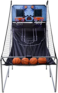 Nova Microdermabrasion Foldable Indoor Basketball Arcade Game Double Shot 2 Player W/ 4 Balls, Electronic Scoreboard and Inflation Pump