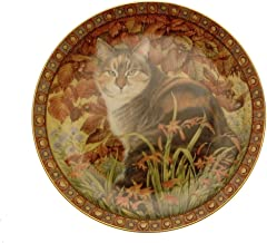 Danbury Mint The Four Seasons Cynfascat in Autumn Lesley Anne Ivory cat Plate GB144