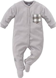 Pinokio Baby - Jungen oder Mädchen Schlafanzug einteilig/Strampler aus der Serie North grau