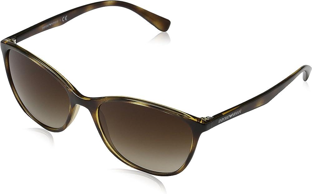 Emporio armani, occhiali da sole da donna, marrone ( havana) EA4025A
