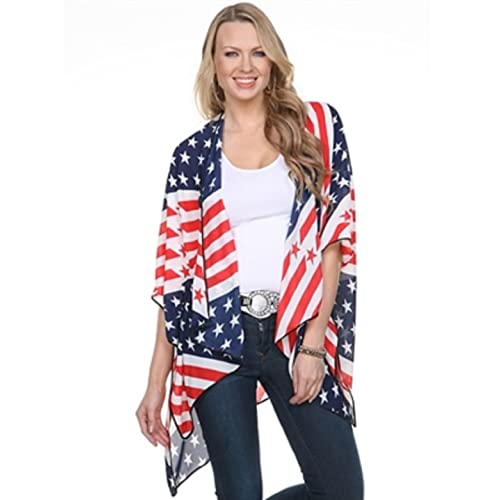 TheFlagShirt Kimono Cape-American Flag with Dark Piping (USAFLAG) 578022d7d8