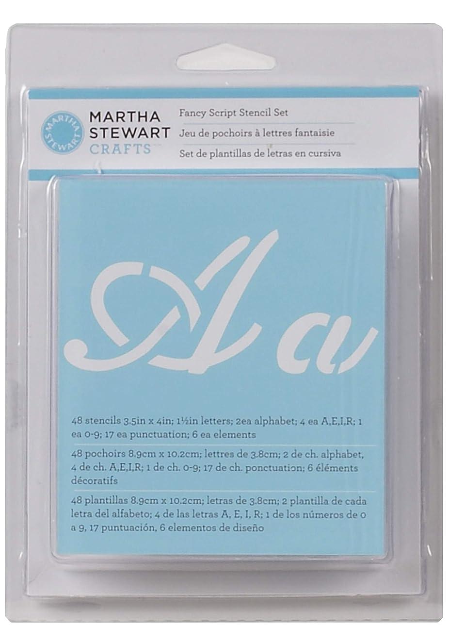 Martha Stewart Crafts Alphabet Stencil, 32275 Fancy